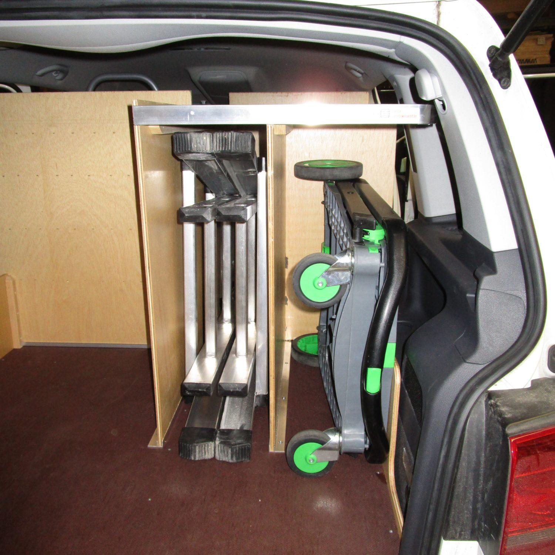 Bilindretning VW Touran bagfra 3 - Dansk Varebilindretning