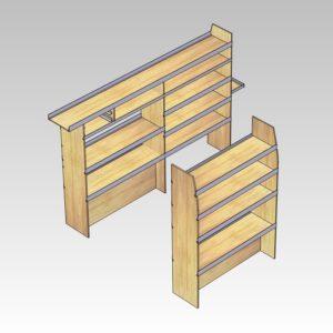 Bilindretning til murer/entreprenør/tømrer med sortimentskasser i bag (str 06)