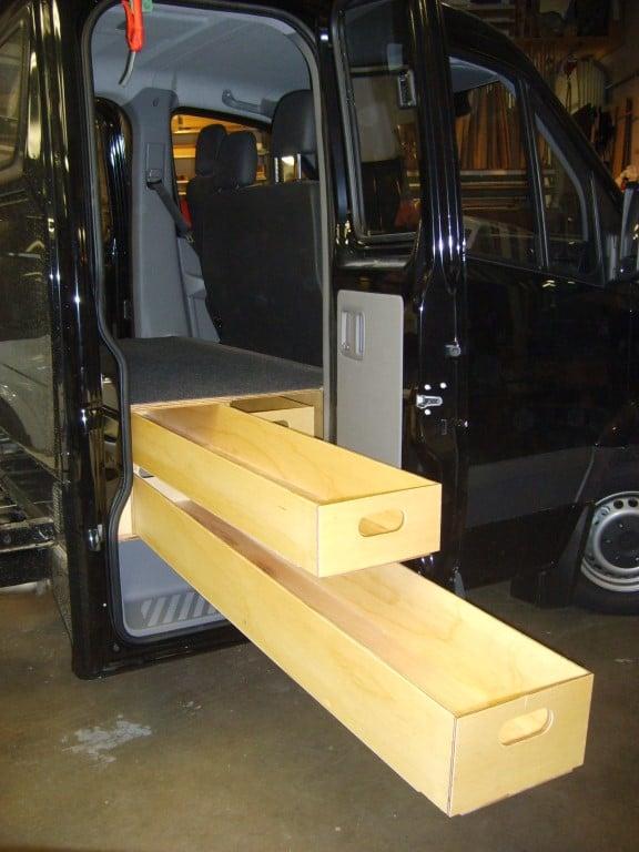 Ladbil indretning kabine 3