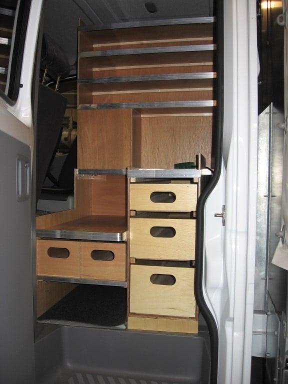Ladbil kabine indretning entreprenør