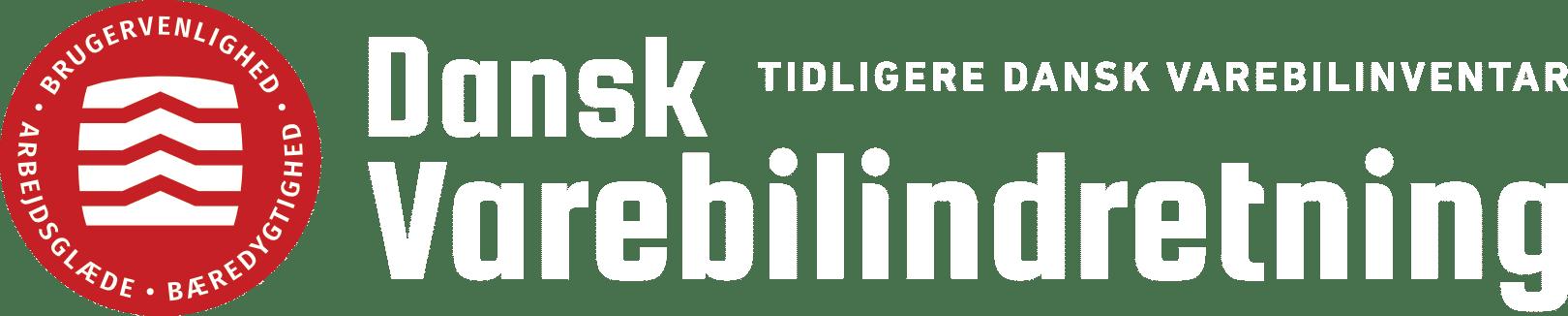 Dansk Varebilindretning logo negativ ok